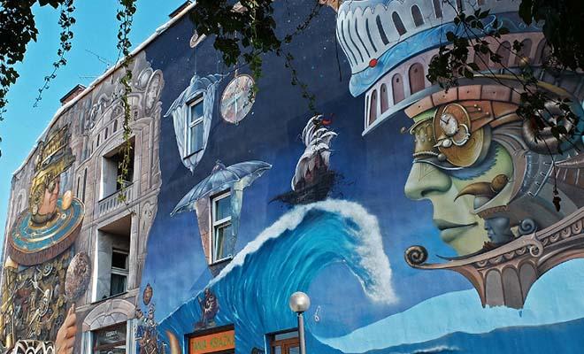 Mural Strażnik Czasu